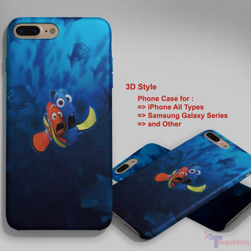 Finding Nemo Dory Kiss - Personalized iPhone 7 Case, iPhone 6/6S Plus, 5 5S SE, 7S Plus, Samsung Galaxy S5 S6 S7 S8 Case, and Other