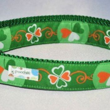 The Kiss Me I'm Irish Custom Dog Collar by 3pooches on Etsy