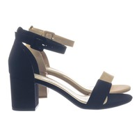 Cake by DBDK Retro Comfortable Chunky block Heel Dress Sandal w Ankle Strap