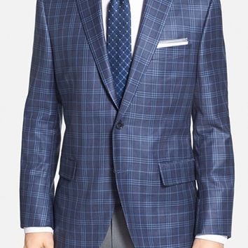 Men's Big & Tall Peter Millar 'Flynn' Classic Fit Plaid Wool Sport Coat