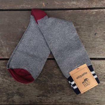 Shop — BKc Hat Shop — BKc + Etiquette Clothiers Herringbone Dress sock | The BKc