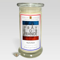 Pray For France - Jewelry Greeting Candles