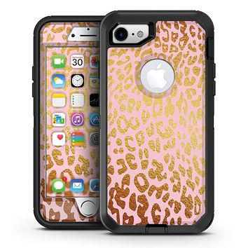 Pink Gold Flaked Animal v4 - iPhone 7 or 7 Plus OtterBox Defender Case Skin Decal Kit