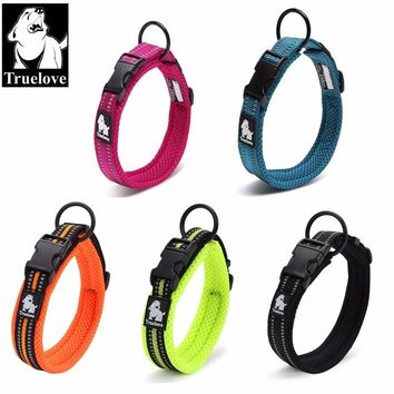 Adjustable Nylon Dog Collars Mesh Padded 3M Reflective Collar