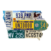 Iowa License Plate wall decal