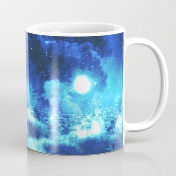 Blue on Moon Mug by Adaralbion