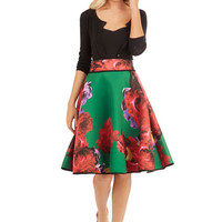 ModCloth Long Full Boldness in Bloom Skirt