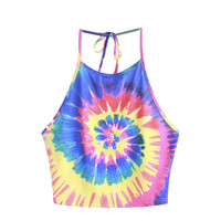 Tye Dye Halter Crop Top