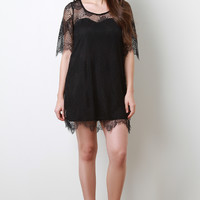 Scallop Eyelash Lace Dress