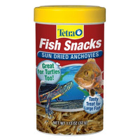 Tetra Fish & Turtle Food Snacks Sun Dried Anchovies 1.13 oz