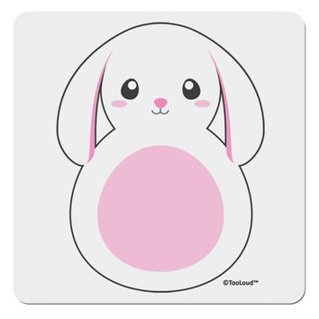 "Cute Bunny with Floppy Ears - Pink 4x4"" Square Sticker by TooLoud"