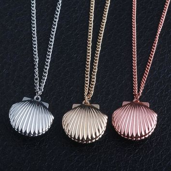 SG 20Pcs/Lot Fashion Jewelry 3 Color Creative Shell Necklace Mermaid Shell Necklace For Women Girl Souvenir Gift