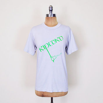 Blue & Green Ripcord Dallas Texas TX Screen Stars T-Shirt Tshirt 50/50 Soft Paper Thin T-Shirt 80s T-Shirt Indie Hipster T-Shirt Men S Small