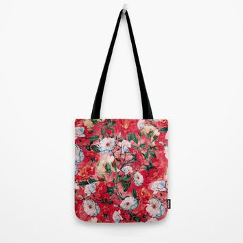 Rose Red Tote Bag by RIZA PEKER