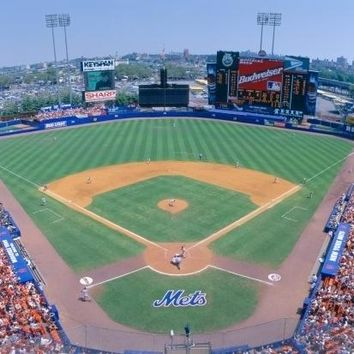 Shea Stadium  NY Mets v. SF Giants  New York Poster Print (36 x 12)