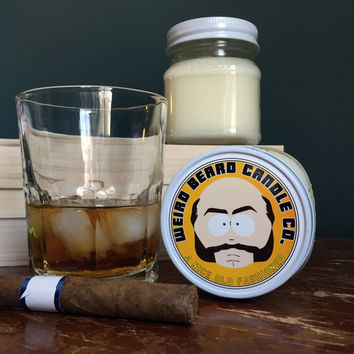 A Nice Old Fashioned 8oz soy candle - whiskey scented