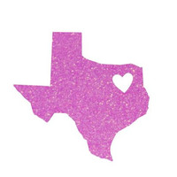 Texas State Decal -Heart - Texas Forever - Custom Decal - Texas Pride - Texas Sticker - Perfect for Yeti, Rtic, Cars, Binders and More