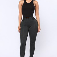 Classic Ponte Leggings - Charcoal