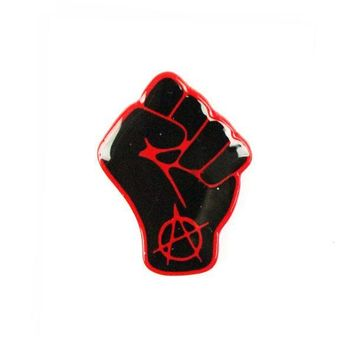 Anarchy Raised Fist Pin - Black