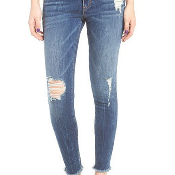 Emma Distressed Ankle Skinny Jeans