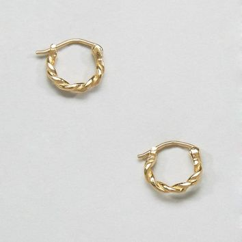 ASOS Gold Plated Sterling Silver Vintage 10mm Hoop Earrings at asos.com