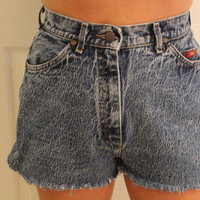 High waisted cutoff jean shorts by p4pministry on Etsy