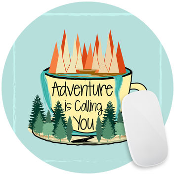 Adventure is Calling Mouse Pad Decal