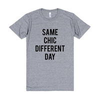 American Apparel Same Chic Different Day Tri Blend, American Apparel, Soft Tee, Unisex Graphic Tee