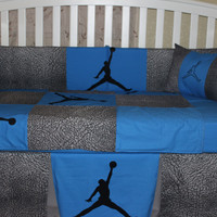 Custom 6 piece JORDAN-Elephant Theme Crib Bedding Set