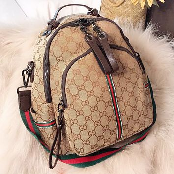 GUCCI New fashion more letter canvas book school bag backpack bag women