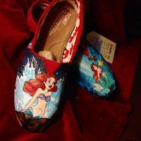 Custom made painted shoes