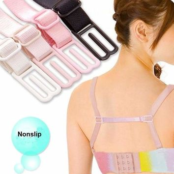 Anti Slip Straps Strap Holder Bra Womens Ladies Non-Slip Bra Rope Back