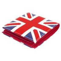 Allegra K England Flag Pattern Bifold Purse Wallet Credit Card Holder for Women: Clothing