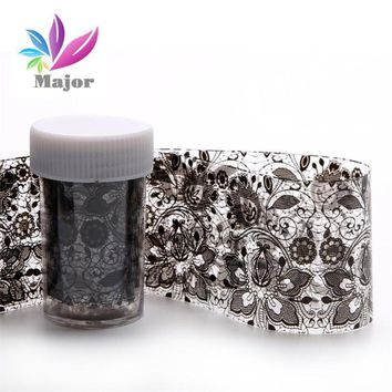 Black Lace nails accessoires Design Nail Art Foil Stickers Transfer Decal Tips Manicure DIY Sticker Decal decorations manicure