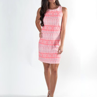 Tiki TIde West Ave Shift Dress - Coral
