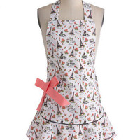 Eiffel for You Apron | Mod Retro Vintage Kitchen | ModCloth.com
