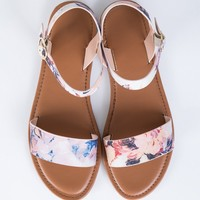 Watercolor Floral Sandals