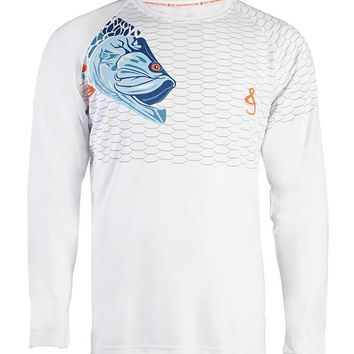 Men's Tarpon Scales Vented L/S UV Fishing Shirt