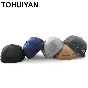 Trendy Winter Jacket TOHUIYAN Brimless Cotton Cap For Men Women Street Dance Skull Cap Gorras Para Hombre Hip Hop Hat Adjustable Chapeau Baseball Hat AT_92_12