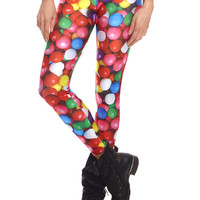 Womens Gumballs Leggings
