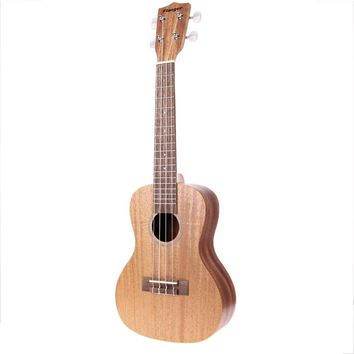 23 inch Mahogany Board Ukulele with Italian Aqulia String and Ukulele Bag Music Stringed Instruments Guitar Parts & Accessories