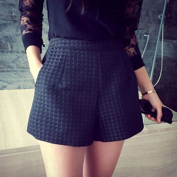 Plaid shorts for a casual or dressy look   Sizes:  S - XXL