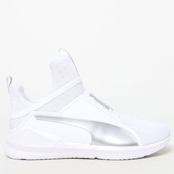 Puma Women's White and Silver Fierce Core Sneakers at PacSun.com