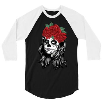 Skull Girl 3/4 Sleeve Shirt
