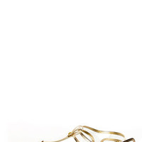 Chinese Laundry Natalia Clear and Light Gold Thong Sandals