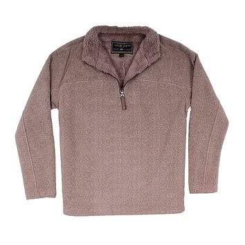 Herringbone Fleece 1/4 Pullover in Sand by True Grit - FINAL SALE