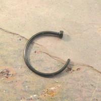 Black Nose Hoop Ring
