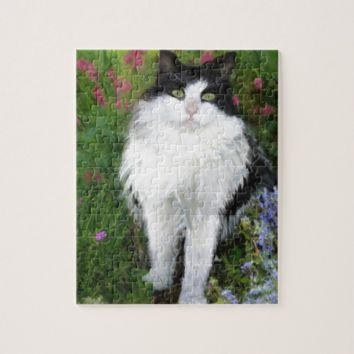 Cat in the Garden Jigsaw Puzzle