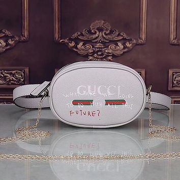GUCCI Women Fashion Leather Chain Handbag Satchel Shoulder Bag Crossbody Waist Bag