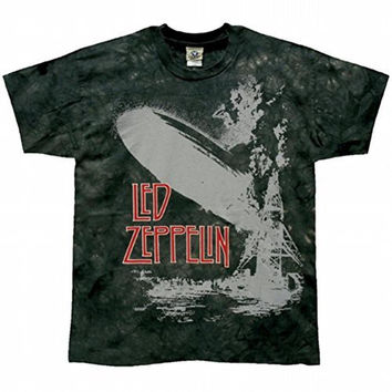 Led Zeppelin - Exploding Zep Green Tie Dye T-Shirt